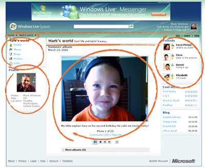 Windows Live Spaces Preview