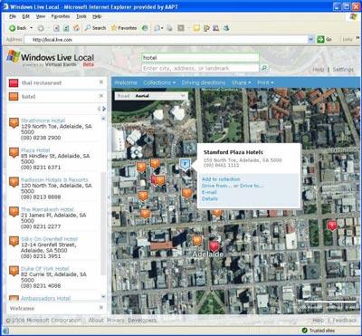 Windows Live Local Australia