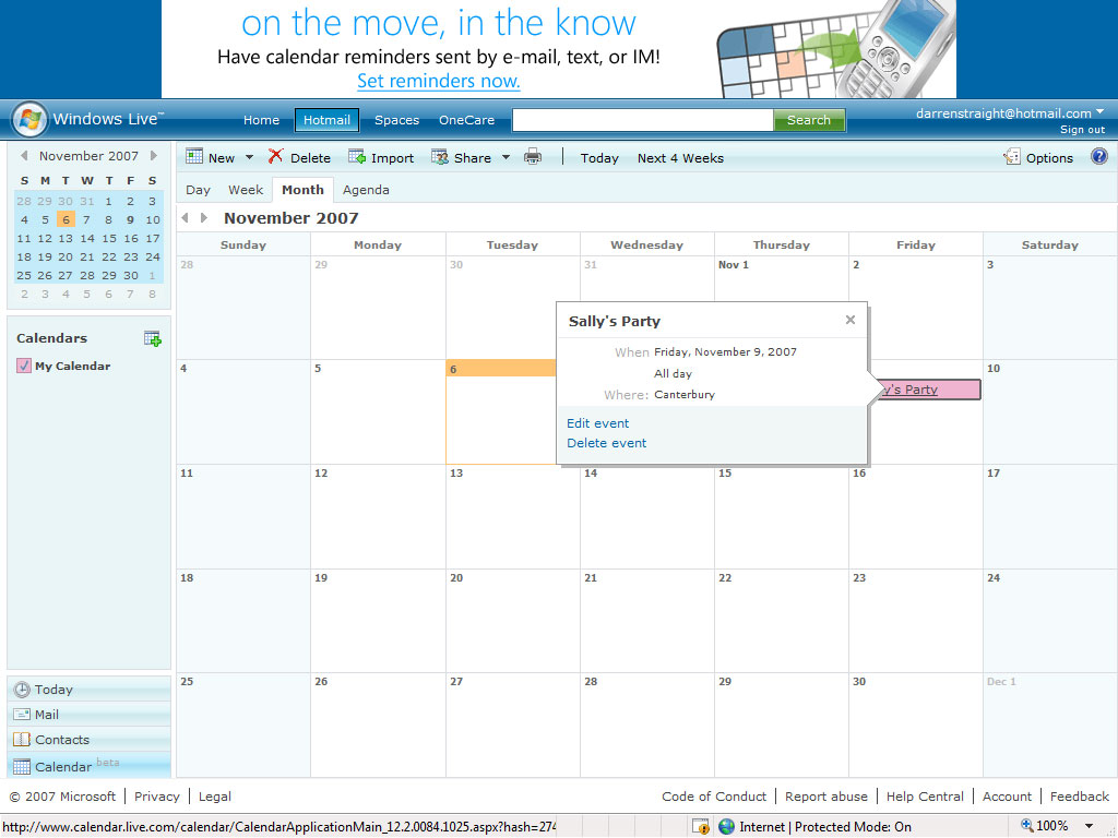... Calendars (Microsoft Outlook, Facebook Birthdays from Google Calendar