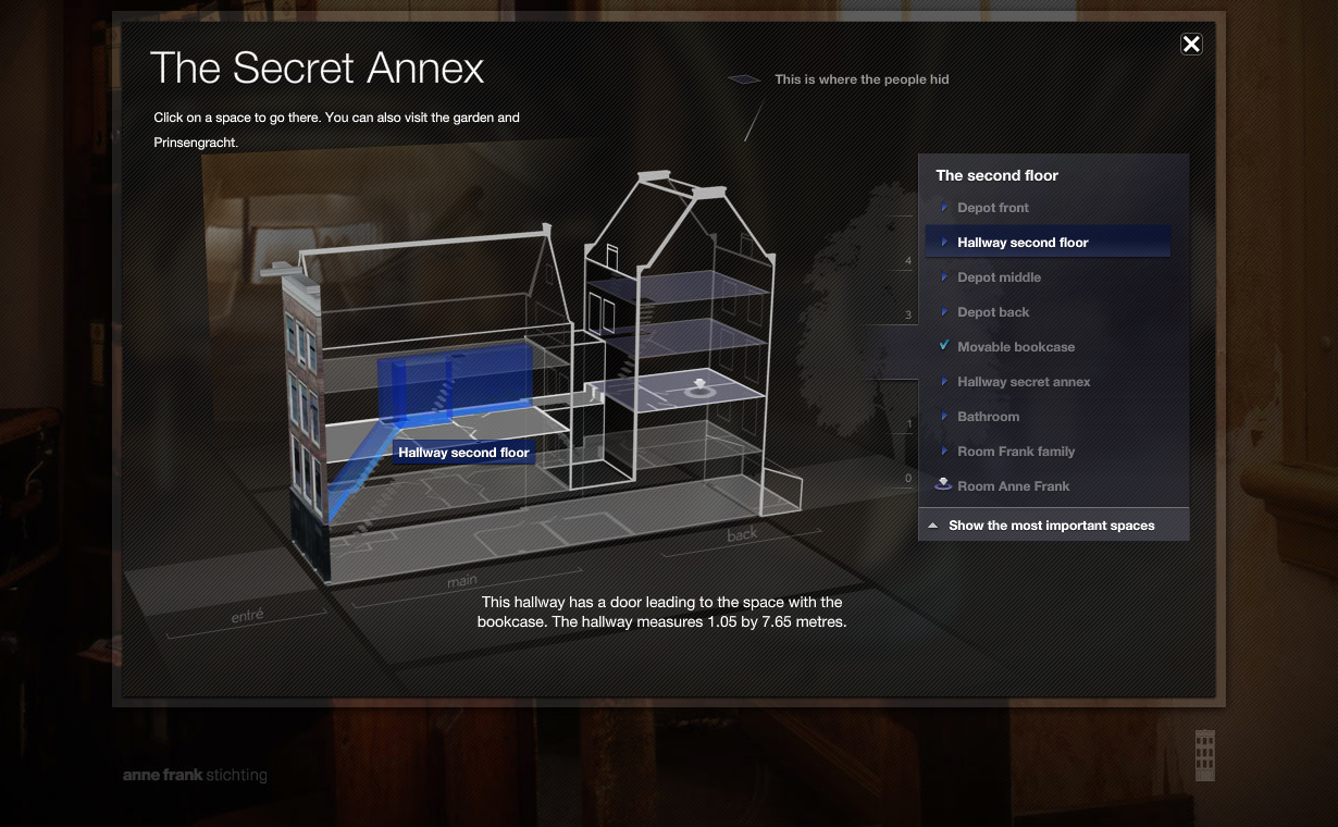 Virtual 3d Tour Of Anne Frank House Secret Annex In